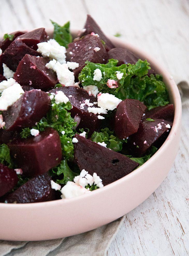 Rødbedesalat med feta - en skøn opskrift på vintersalat