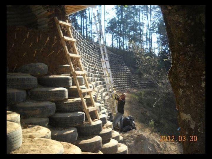 Tire Walls: Retaining Walls