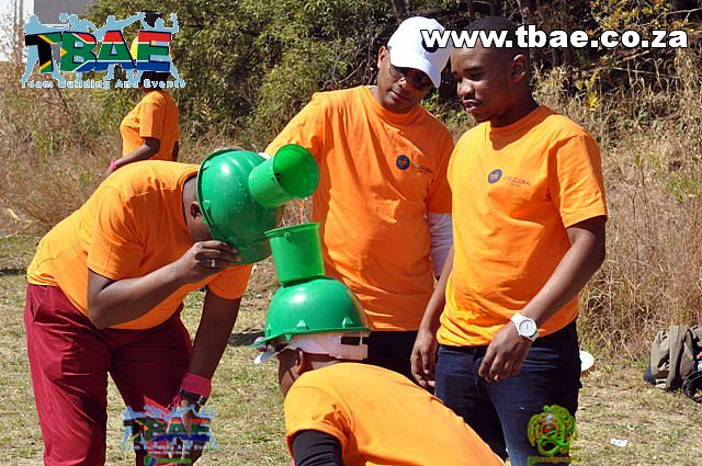 Team Building Activity with water