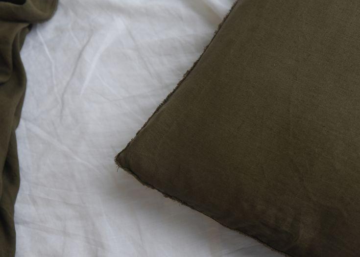 100% Hemp Bed Linen. Moss