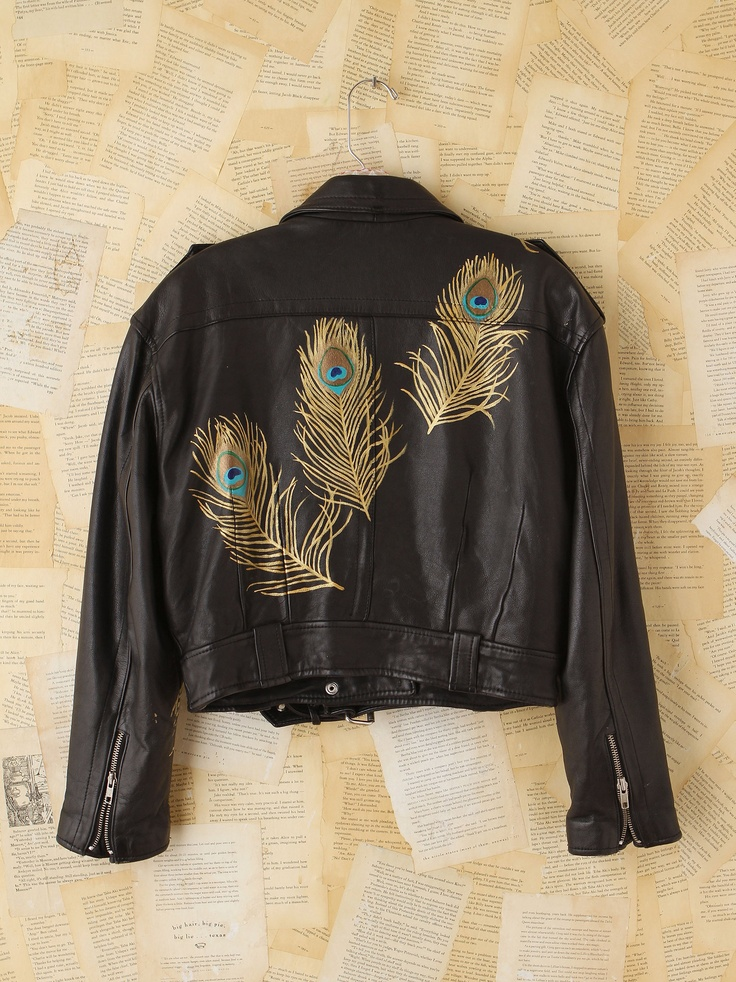 Fun jacket. Peacock feathers
