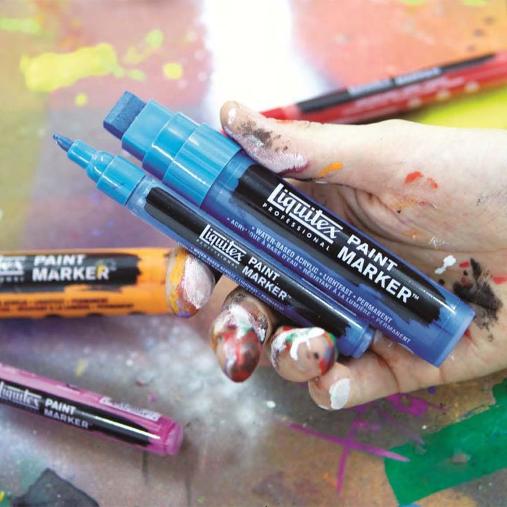 Liquitex Professional Paint Markers JerrysArtarama.com - Low-odor, water-based acrylic paint markers for artwork indoors and out!