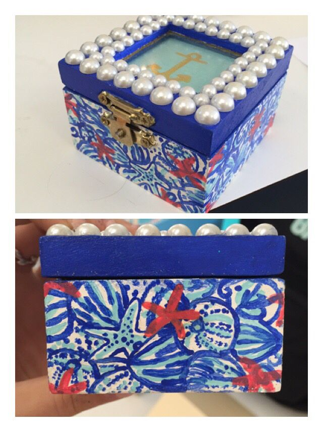 Lilly Pulitzer inspired sorority pin box