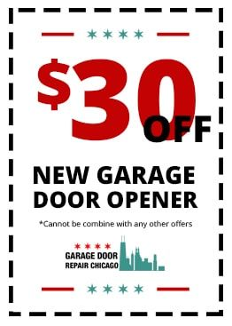 Garage Door Repair Chicago is proud to offer our customers $30 off any of our expert residential or commercial garage door openers installation services with this online coupon. Simply mention it over the phone to our dispatcher to receive credit. (773) 312-3378