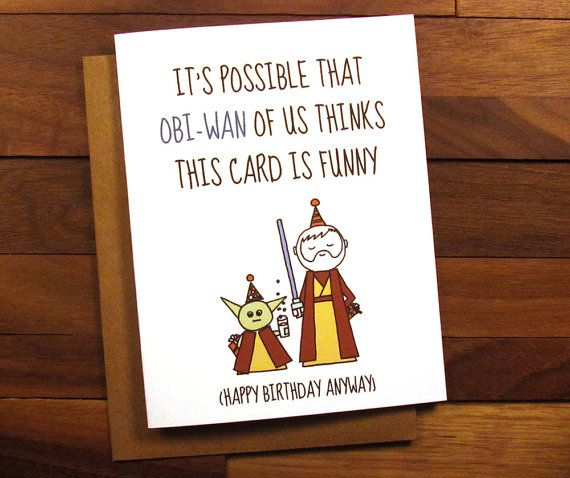 Funny Birthday Card  Star Wars Birthday Card by ThePaintedKitchen
