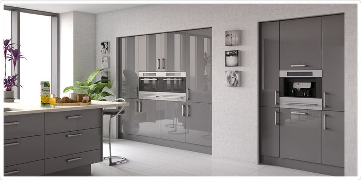 Kitchen cabinet handles grey gloss kitchen