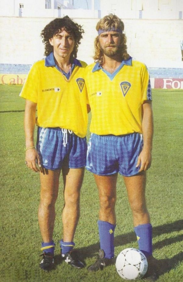 Mágico and Juan José, legendary players of Cádiz FC