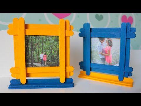 DIY: Porta-retratos com palitos de picolé   Namorada Criativa - Por Chaiene Morais