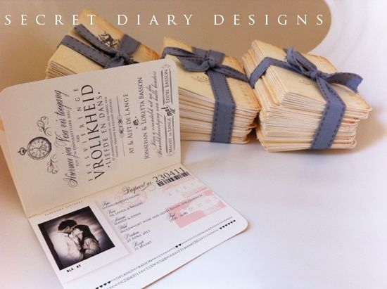 Unique Wedding Invitation Designs | ... themed wedding you could use invitations that look like passports