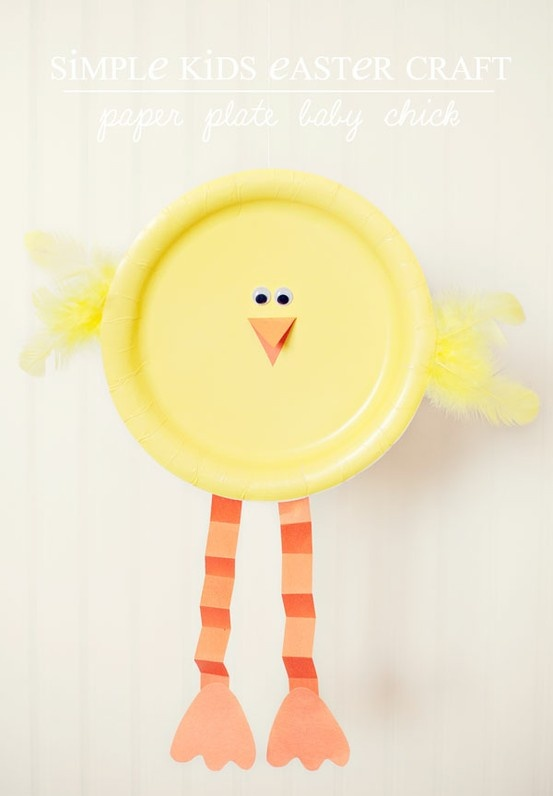 Paper plate chick! Check out this adorable craft that Simple As That has shared with us!