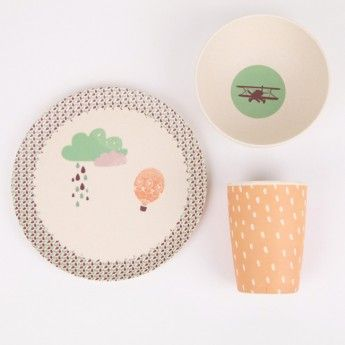 Up Up & Away Dinner Set by Mae