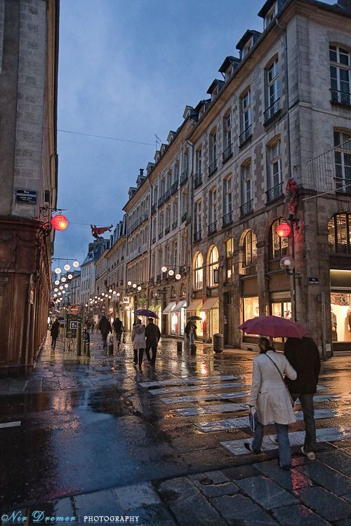 (Rennes, France). If I ever got the opportunity to go to France, I think Rennes would be a nice stop. It reminds me of impressionist paintings done by Andre Kohn (but that doesn't really make sense because Kohn was Russian).