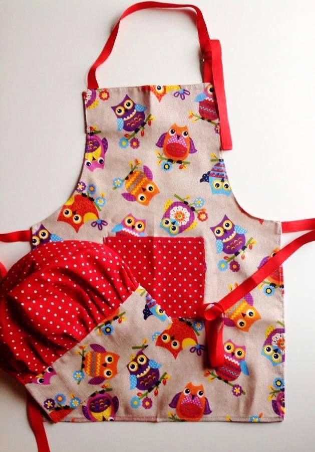 Delantal y gorro cocinero happy candelita delantales - Delantales y gorros de cocina para ninos ...