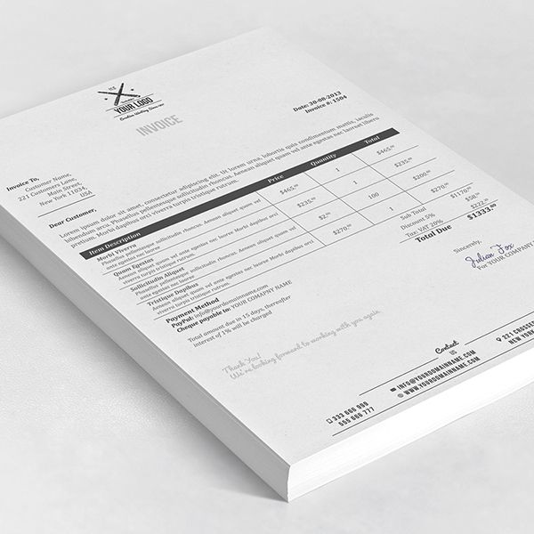 This clean and elegant brand identity & stationery set features business card, invoice, letterhead, envelope and binder templates. Additionally the invoices and letterheads are available in both Photoshop .PSD format for designers and Microsoft word .DOCX…