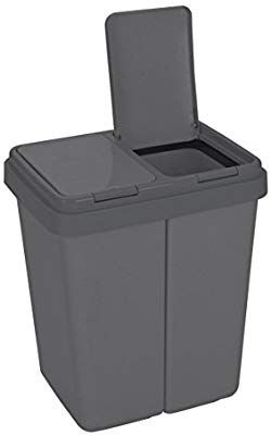 Ribelli Double Kitchen Bin 2 X 25 L Dual Recycling Dustbin With Two