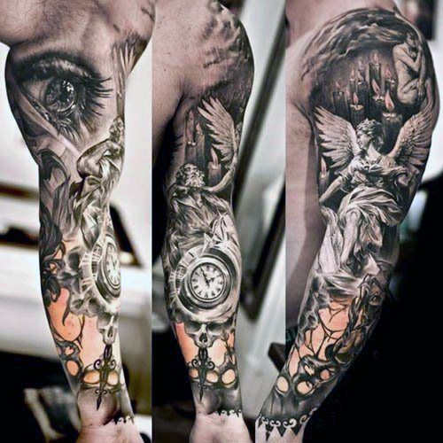 Sleeve Ancient Greek Tattoo Designs Men                                                                                                                                                     More