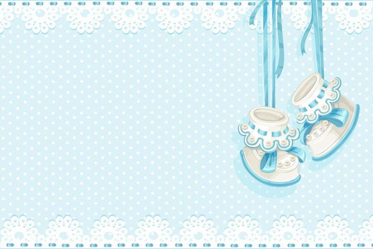Zapatitos de Bebé: Tarjetas o Invitaciones para Imprimir Gratis. - baby card topper to embelish