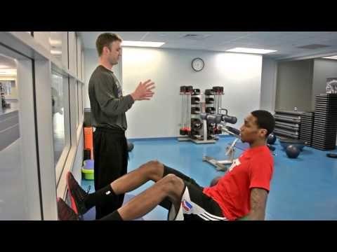NBA D-League Forward Alex Davis' Challenging Core Activation Warm-Up
