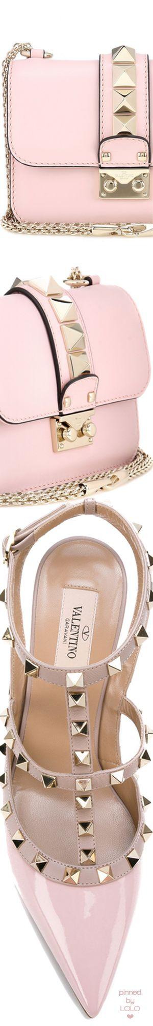 Valentino Garavani Lock Small leather shoulder bag and Rockstud Pump