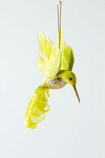 jewelled hummingbird, anthropologie ornament