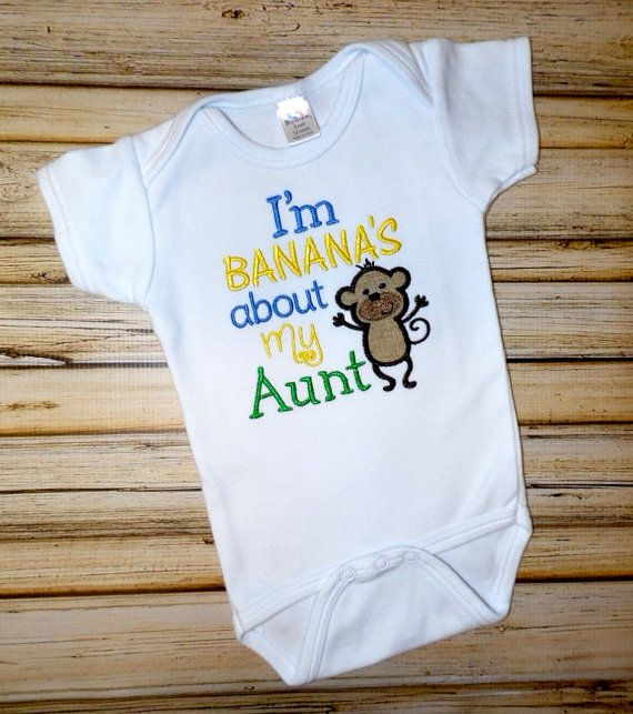 I'm Banana's About My Aunt Bodysuit by AStitchofJoy on Etsy, $20.00