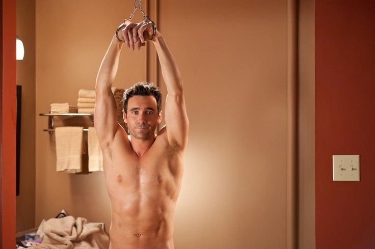 "Allan Hawco from ""Republic of Doyle"". According to my sister he's often without clothes but I've never been lucky enough to see it. So here it is!"
