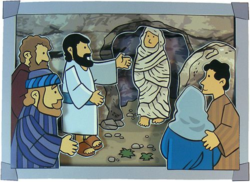John 11:1-44; Jesus Has Power Over Death; Jesus Raises Lazarus From The Dead 3D Picture Craft