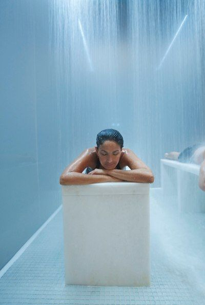 Relax in the Rain Tunnel at Lapis Spa, Fontainebleau. #ForABetterYou #Miami #Fontainebleau