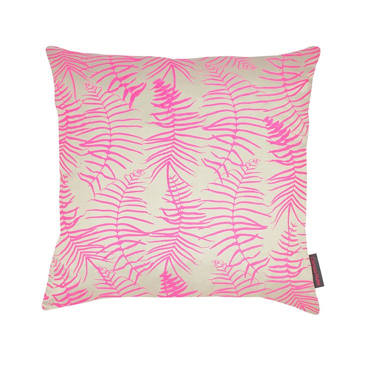 Discover the Clarissa Hulse Feather Fern Kissen - 45x45cm - Pebble/Neon at Amara