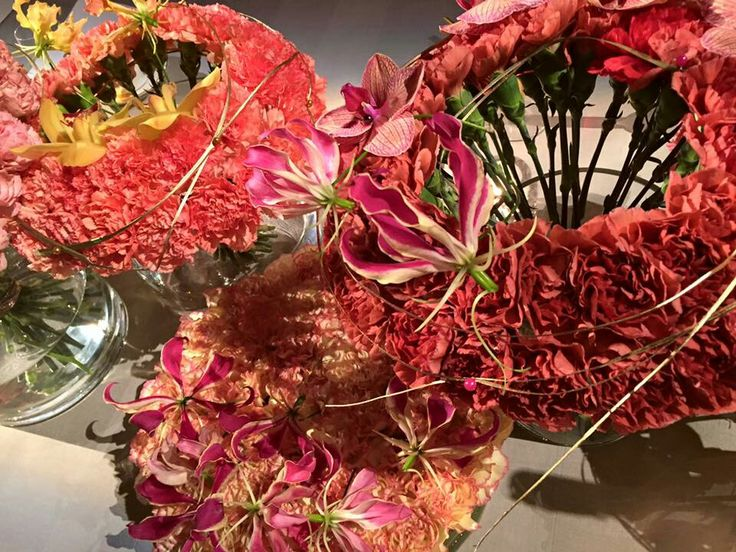 2015 Nobel Banquet Flower Decorations Table of Honour by florist Per Benjamin