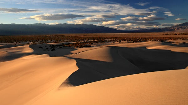 Mesquite Sand dunes in Death Valley National park Photograph