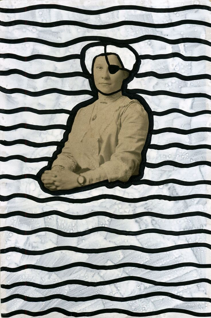 Naomi Vona Art - Year: 2017Artist: Naomi VonaMedium: Pens on vintage postcard.Size: 9 X 13,6 x 0.1 cmInspiration