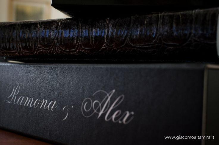 Cofanetto personalizzato con i nomi degli sposi