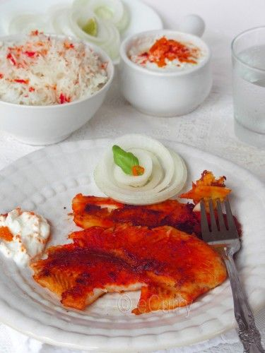 Fish, Garlic paste and Orange foods on Pinterest