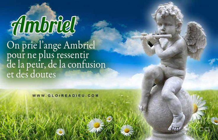 On prie l'ange gardien Ambriel lorsque l'on a peur et que l'on se sent angoissé, que l'on a besoin de voir clair dans nos pensées et dans nos relations avec les autres