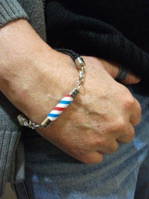 Barber Pole Bracelet For Man. Barber Pole Knot Bracelet