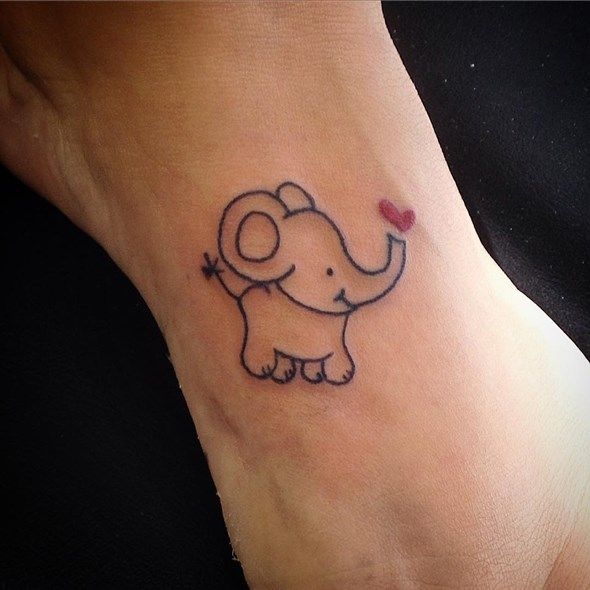 30 Adorable Tiny Elephant Tattoo | Black, Grey and Tattoo ...