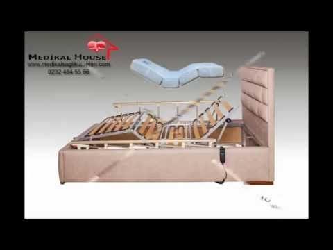 Petek Ev Tipi Hasta Karyolası 2 motorlu, elektrikli ve kumanda ile kolayca sırt ve ayak bölgesel hareketlerinin gerçekleştirilebildiği özel oda ve evde kullanıma uygun hasta karyolası modelidir.