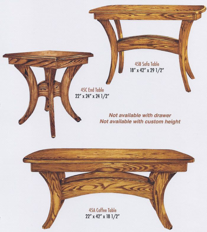 Amish Coffee Table Woodworking Projects Plans