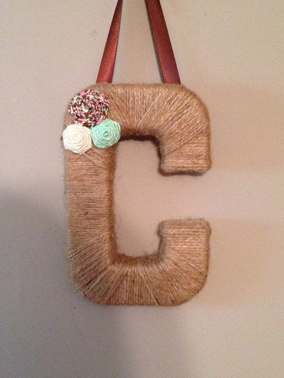 Jute Twine Letter C by AMWreaths on Etsy, $8.00