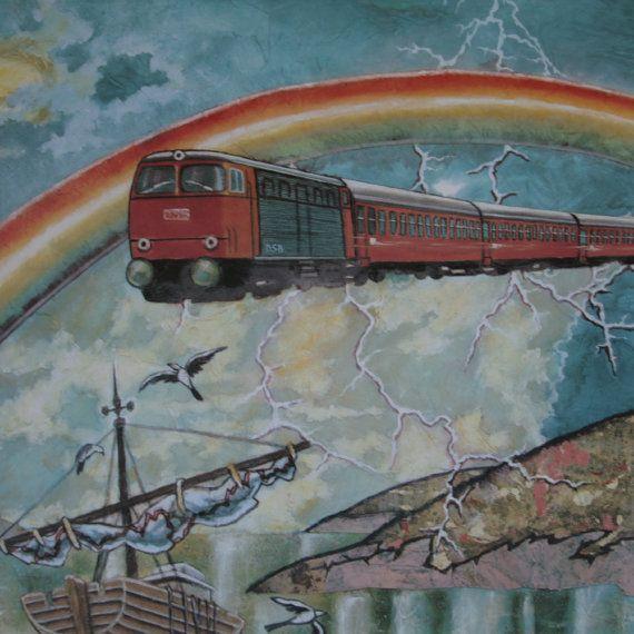 1989 Danish Railways Advertisment  Original by OutofCopenhagen