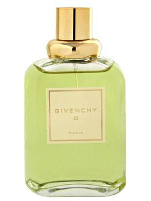 Givenchy III by Givenchy is a classic Chypre Floral fragrance that was introduced in 1970. The perfume opens with aldehydes with bergamot, mandarin, galbanum, peach and gardenia. The heart includes lily of the valley, hyacinth, rose, jasmine and iris root, while the base carries patchouli, oakmoss, amber and sandalwood. - Fragrantica