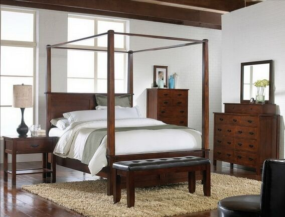 Home :: Bedroom Furniture :: Bedroom Sets :: Wood Bed Sets ::