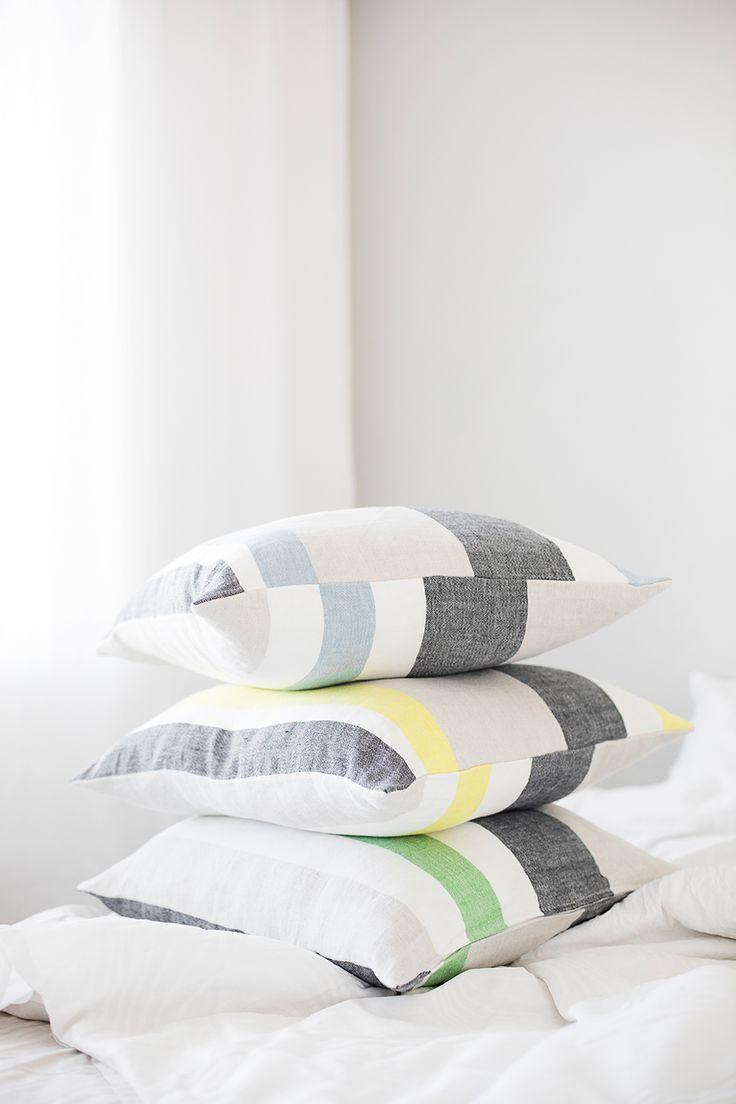 SARASTUS pillow case. 100% linen, made in Finland by Lapuan Kankurit.