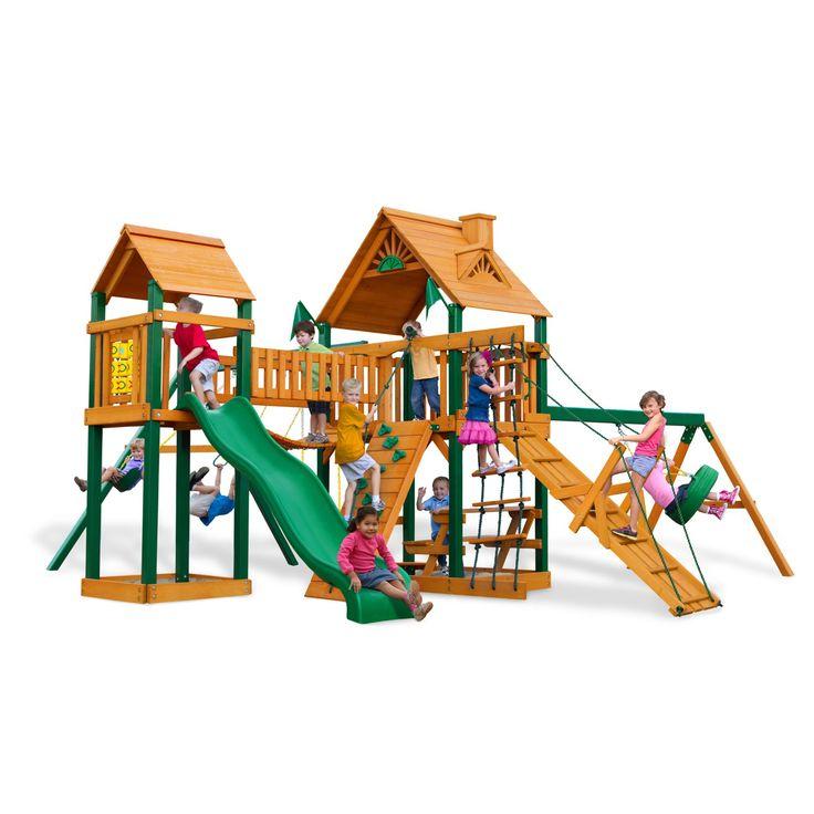 Gorilla Playsets Blue Ridge Pioneer Peak Wood Swing Set - 01-0006-TS