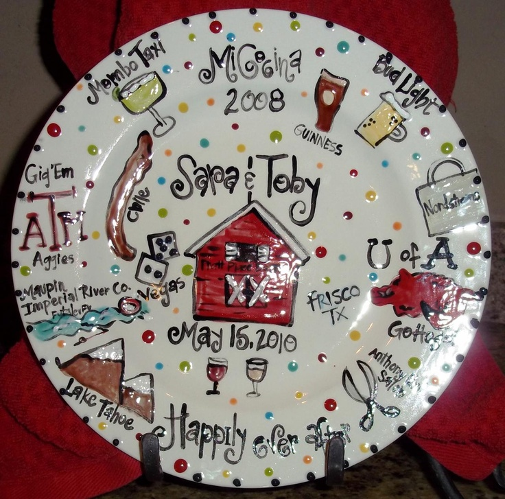 17 best images about creative wedding anniversary ideas for Creative pottery painting ideas
