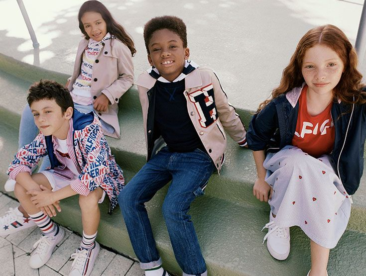 Meet The Boys And Girls From The New Tommy Hilfiger Kids Campaign They Re Dressed For Playtime Or School In Cool Kids Clothes Kids Fashion Tommy Hilfiger Kids