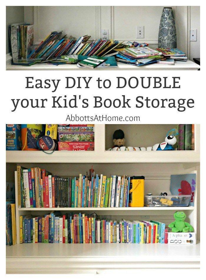 My 1 Day Diy Kids Book Storage Idea Kids Book Storage Diy
