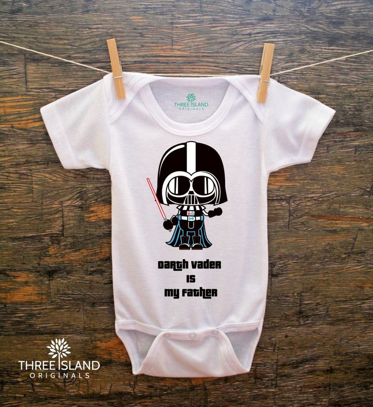Cute and Funny Onesie for Baby Boy or Girl - Star Wars Baby Darth Vader - Darth Vader is my Father. $20.00, via Etsy.