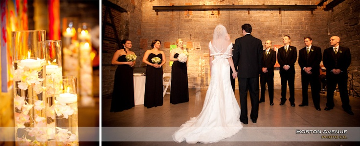 Boiler House candlelit wedding ceremony